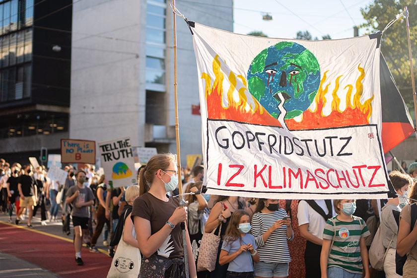 Archivbild Klimastreik Bern 2020