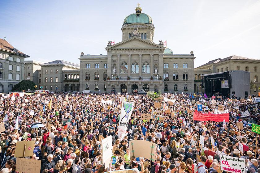 Archivbild Klimastreik 2019 vor dem Bundeshaus