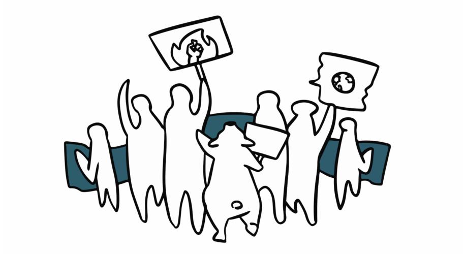Bannerbild Symbolillustration Klimastreik